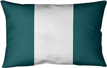 ArtVerse NFS Philadelphia Football Stripes Pillow (Indoor/Outdoor), 20 x 14, Green and White