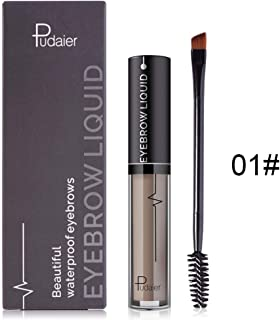 Eyebrow Gel Eyebrow Liquid Perfect Eyebrow Cream Eyebrows in 2 Mins Eyebrow Gel +Brush Eyebrow Tint Dye Waterproof Not Fade Semi-permanent Long Lasting for Eyebrow Makeup