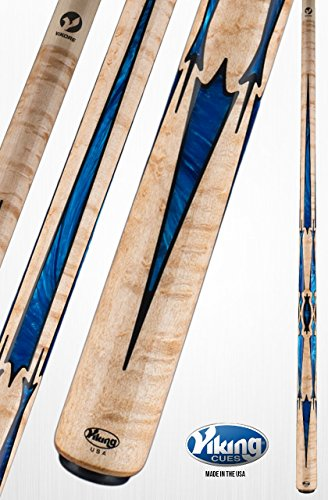 Purchase Viking A862 Pool Cue Stick 40 Black (IMA) and Blue Premium Pearl Inlays | Khaki Stain | Pre...
