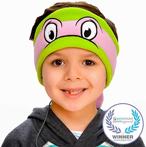 Teenage Mutant Ninja Turtles Kids Headphones by CozyPhones - Volume Limited with Ultra-Thin Speakers & Soft Headband - Perfect Childrens & Toddlers Earphones for School, Home & Travel