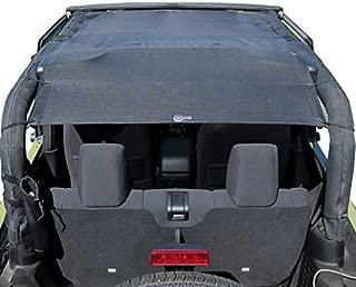 Rugged TUFF TUFFSHADE Jeep Wrangler JK Full Mesh Sun Shade Cover Safari Bikini Top 2007-2017 2-Door Models Features Stowaway Pockets UV Protection 5-Year Warranty for JK2D