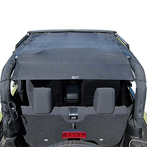 TUFFSHADE Compatible With Jeep Wrangler JK Full Mesh Sun Shade Cover Safari Bikini Top 2007-2017 2-Door Models Features STOWAWAY POCKETS UV Protection 5-Year WARRANTY For JK2D by Rugged TUFF