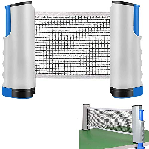 DELEE Anywhere Retino da ping pong retrattile e ping-pong, ricambio regolabile, Blu