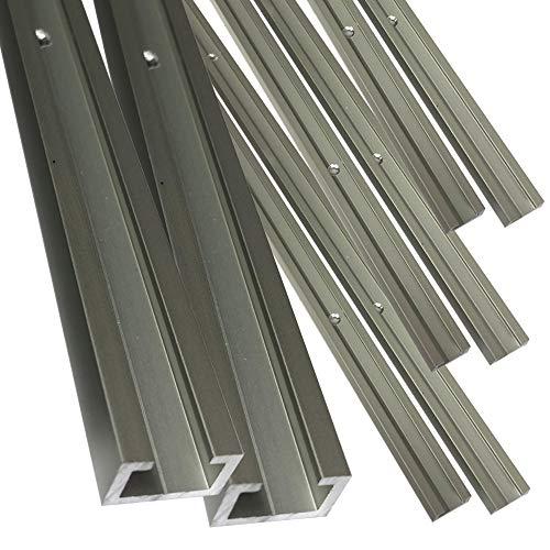Alu C-Profil eloxiert EV1 11 x 17 x 4,5 x 2 mm für M8 Schraube oder Mutter; gebohrt inkl Schrauben 3,0 x 20 mm (150 cm)