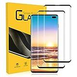 Cristal Templado para Samsung Galaxy S10 Plus 9H Dureza, 2 Unidades Resistente a Araaozos y Golpes, Sin Burbujas, Anti Dactilares, Compatible con 3D Touch Protector para Samsung Galaxy S10 Plus