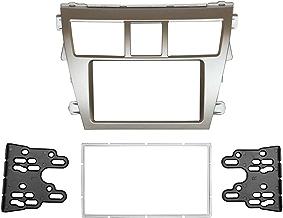 DKMUS Double Din Radio Stereo Dash Installation Mount Trim Kit Compatible with Toyota Vios belta Yaris Sedan