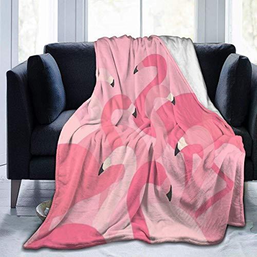 AEMAPE Micro Fleece Decke Plüsch Soft Throws Decke für Kinder Kinder Jungen Mädchen, Decken für Bett Sofa Couch Stuhl Leicht, Pink Flamingo, 50x40in