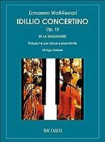 エルマンノ・ヴォルフ=フェラーリ : 牧歌風小協奏曲 作品15 (オーボエ、ピアノ) リコルディ出版