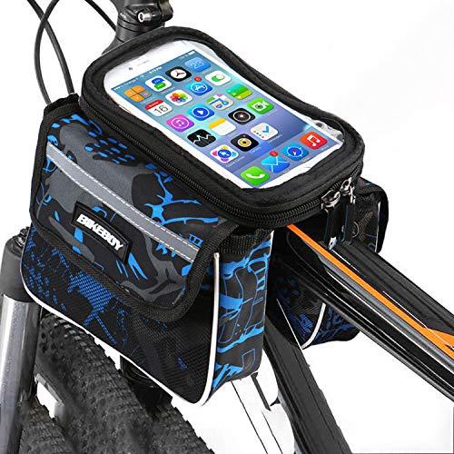 "Bolsa Bicicleta Cuadro soporte movil bicicleta bici funda Valida para Smartphones de hasta 7.5"" con forro Protector Lluvia Bolsa para Bicicleta soporte para movil bicicleta porta movil Bicicleta"