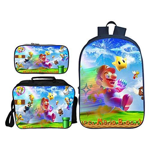 Backpack Morral De Los Niños De 3 Piezas En 3D Super Mario...