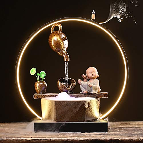 Fuente de Mesa Creativo colgante olla agua humidificador lámpara círculo feng shui afortunado sala de estar tienda escritorio oficina objeto apertura regalo fuente fuente Springs Fuente de relajación
