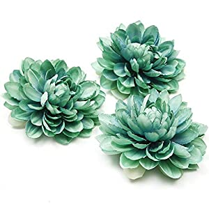 Artificial and Dried Flower 3Pcs 10cm Chrysanthemum Artificial Flower Silk Dahlia Peony Flower Head for Wedding Garden Party Decoration DIYscrapbook