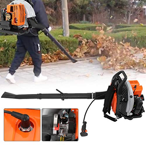 Lanyun Backpack Leaf Blower, 3H-p High Performance Gas Powered Back Pack Leaf Blower 2-Stroke 63cc Cordless Backpack Leaf Blower for Lawn Care,Grdening Power Tool Clean Machince US Fast Shipment