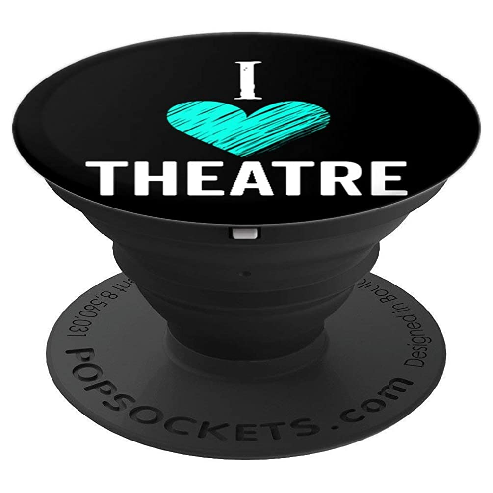 Cute I Love Theatre Broadway Musical Stocking Stuffer Gift - PopSockets Grip and Stand for Phones and Tablets