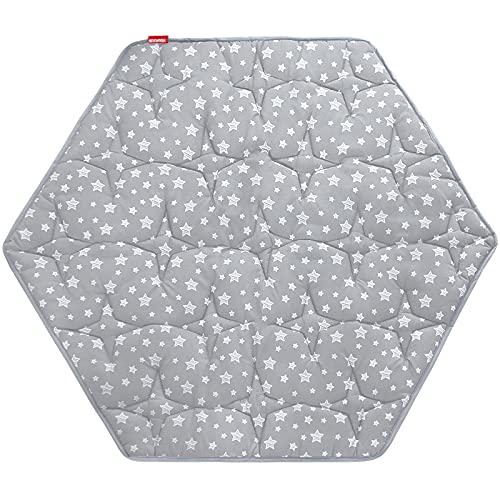 Hexagon Playpen Mat, Baby Playmat Fits Regalo Play Yard 6 Panel Playpen and Summer Pop 'n Play Playard, Non Slip Kids Tent Mat Hexagon Rug Pad Mat