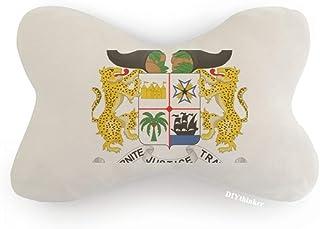 DIYthinker Benín Emblema Nacional País Coche Cojín Almohada Reposacabezas Almohada Almohada Cojín Almohada