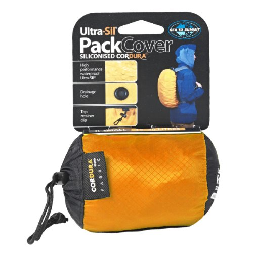 Product Image 1: Sea to Summit SN240 Ultra-Light Siliconized Cordura Pack Cover,Yellow Gold,Medium