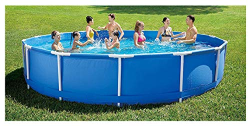 YW Sommer Planschbecken Metallrahmen Pools Runde abnehmbare Pools, Kinderpool Swimmingpools Oberirdischer Pool, mit Filterpumpe 12Ftx30in