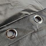 PimpamTex Cortina Terciopelo Opaca térmica Aislante para salón Dormitorio y habitación, con 8 Ojales, 1 Unidad 140 x 260 cm, Modelo Terciopelo Color Gris Marengo