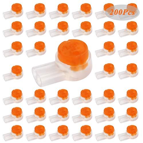 WOWOSS 200 Stück K2 Kabelspleißanschlüsse Klemmen Wasserdichte Spleißklemmen Quick Splice Elektrische Kabelklemmen für Kabeldaten Telefonkabel