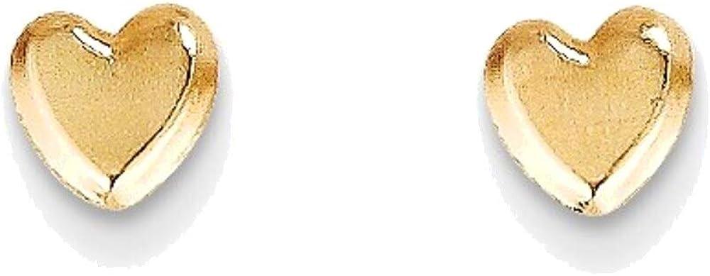 Madi K Heart Post Earrings in 14K Yellow Gold