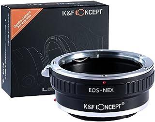 K&F Concept Canon EOS EF Adaptador ∙Compatible con Cámara Sony E-Mount (NEX/Alpha) ∙ Adaptador para Lente Canon EOS EF