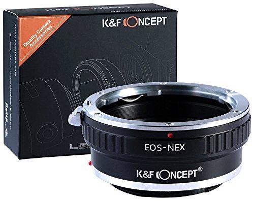 K&F Concept Canon EOS EF Adapter Sony ∙ Kompatibel mit Sony E-Mount Kamera (NEX/Alpha) ∙ Objektivadapter für Canon EOS EF Objektiv