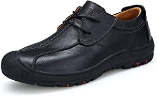 Xujw-shoes store, 2019 Mens New Lace-up Flats Mens Black Brown Oxford OX Leather for Men Outdoor Lace Up Style Light and Flexible Collision-Resistant Toe