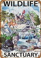 野生生物保護区、ブリキのサインヴィンテージ面白い生き物鉄の絵画金属板ノベルティ