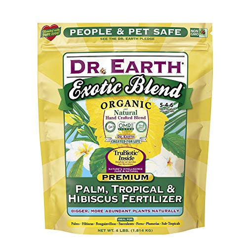 Dr. Earth INC 756P Exotic Exoitc Blend Palm, Tropical & Hibiscus Fertilizer 4lb (2-Pack)