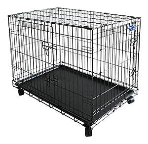 Simply Boîte Maison–Cage pour chien–chien Cage | avec 2portes et roulettes
