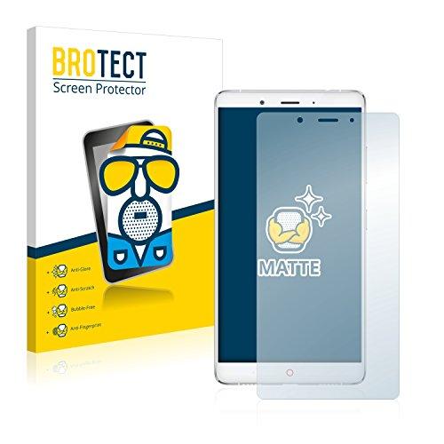 BROTECT 2X Entspiegelungs-Schutzfolie kompatibel mit ZTE Nubia Z11 Max Bildschirmschutz-Folie Matt, Anti-Reflex, Anti-Fingerprint