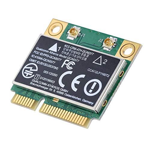 Adaptador de Red de Alta Velocidad Mini Tarjeta PCI Express, 2.4G / 5GHz Banda Dual Bluetooth 5.0 433 Mbps WiFi Mini PCI-E Tarjeta inalámbrica