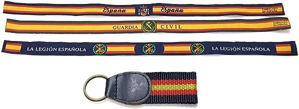Lote 3 Pulsera Tela de anudar, Bandera España, Guardia Civil, Legión Española. Regalo de Llavero con los Colores de la Bandera Española: Amazon.es: Equipaje