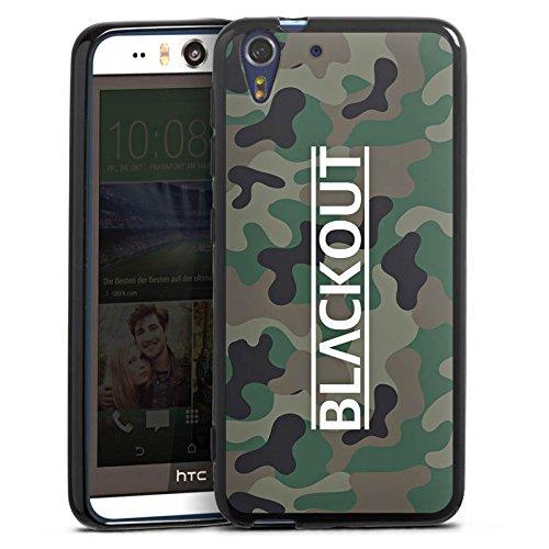 Silikon Hülle kompatibel mit HTC Desire Eye Hülle schwarz Handyhülle Blackout Camouflage YouTube
