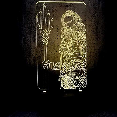 3D Illusion Led Nachtlicht Ausstellungsbeleuchtung Led Nachtlicht Filmfans Geschenke Teenager Schlafzimmer Schreibtisch Led Lampe Film Thema Dekoration-Touch + Fernbedienung
