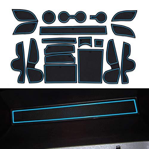 YEE PIN Scanalatura della Porta Tappetino Antiscivolo Compatibile con Hyundai Tucson TL 2 2016-2019 Accessori Interni Automobilistici Scatola di Immagazzinaggio Mat Gomma Morbida