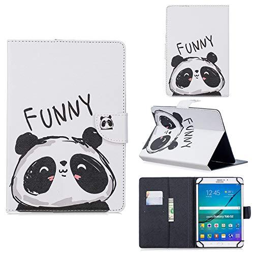 XTstore Funda Universal para Tablet de 8', Carcasa Flip Case Cubierta Protectora para Fire HD 8, Samsung Galaxy Tab S2 8.0,Huawei MediaPad T3 8, Lenovo Tab 3 850F/Tab4 8, iPad Mini 4/3/2/1, Panda