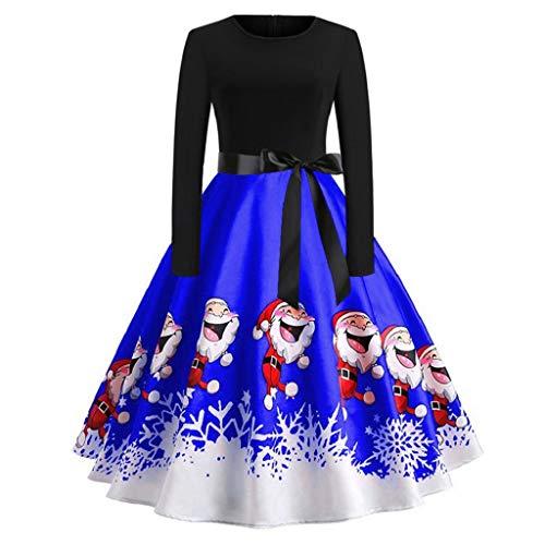 Luckycat Weihnachten Kleidung Damen Kleider Damen Weihnachten Karneval Kostüm Festlich...