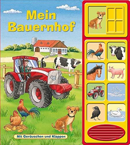 Mein Bauernhof - Klappen-Geräusche-Buch mit 10 Sounds - Klappenbuch mit Soundeffekten