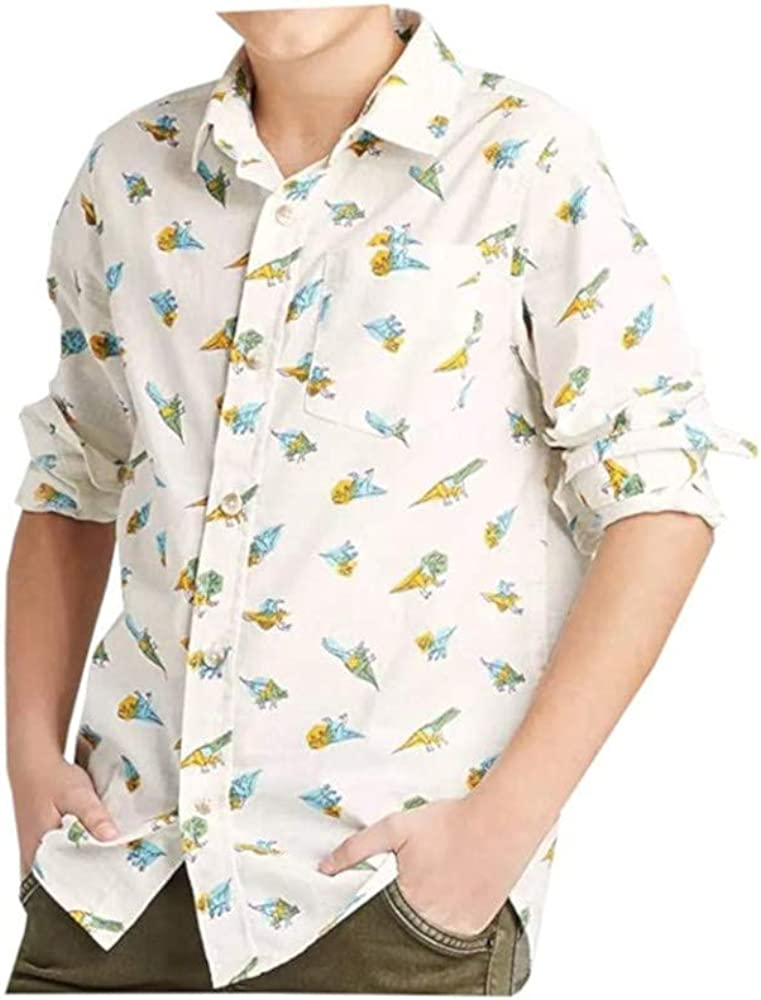 Cat Max 49% OFF Jack Boys Large 12 14 L S Printed Button Popular standard Shirt Dino Down
