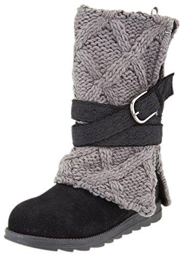MUK LUKS Women's Nikki Belt Wrapped Boot (8 M US, Dark Grey)