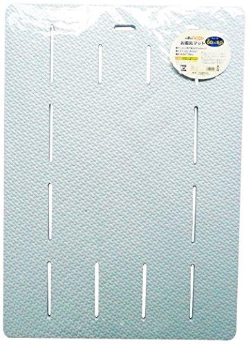 風呂マット バスマット ラバーソフトタイプ 60×85cm ブルー