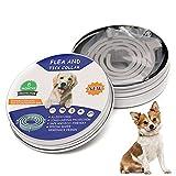 Tamaño Ajustable Collar Antiparasitos para Perro, Collar Antiparasitos para Gatos/Perro, protección Impermeable Mejor Collar, no tóxico, Mosquitos y garrapatas, Control de pulgas, 8 Meses