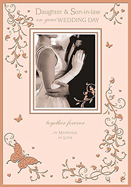 Wedding Day Nice Verse Both Of You Greeting Card Daughter And Son In Law