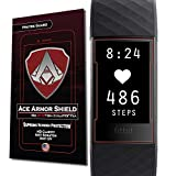 Ace Armorshield (8 pack) Premium HD Waterproof Charger Friendly Screen Protector Compatible with Fitbit Charge 3 / Charge 3 SE