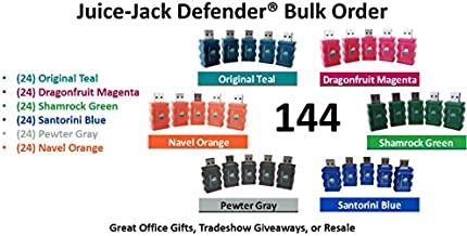 Juice Jack Defender - Bulk Order 144 Mixed Color - Fast Charge-only Adapter UNIVERSAL