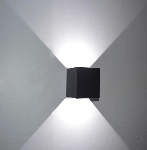 BAJIAN-LI Applique Murale Moderne pour Chambre à Coucher, Couloir, Restaurant, Jardin, 1 Chambre, Salon, 7 W, Noir