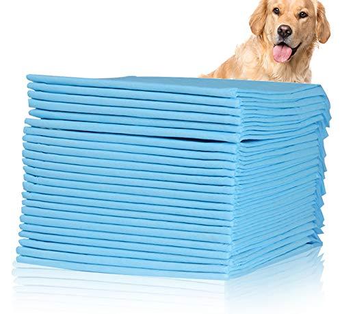 Keleily Welpentrainingspads 20 Stück Hunde Training Pads Super Saugfähig Inkontinenz-unterlagen Einweg Atmungsaktiv Welpen Unterlage Auslaufsichere Bodenschutzmatte für Hunde, Katzen, 60 x 90 cm