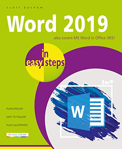 Word 2019 in easy steps: Also covers MS Word in Office 365! (English Edition)